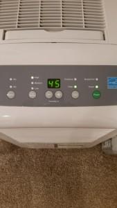 Dehumidifier to reduce interior moisture levels