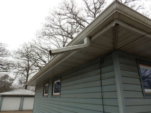 Home inspection gutters with improper down spouts